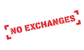 Image result for no exchanges